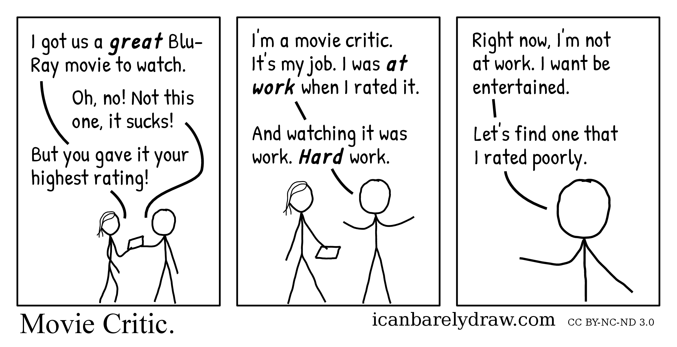 How to write a film critic