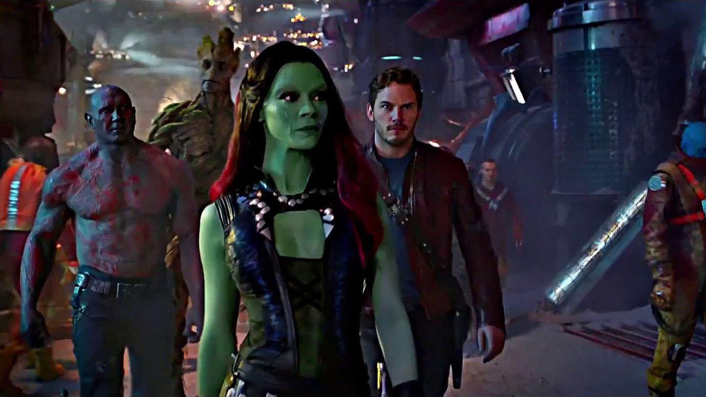 Zoe saldana in guardians of the galaxy movie 2